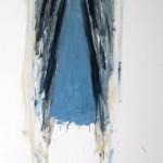 Ricardo Itabirito - Figura Figura 11, óleo sobre papel colado em madeira, 210 x 72 X 3.5 cm