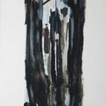 Ricardo Itabirito - Figura Figura 8, óleo sobre papel colado em madeira, 210 x 72 X 3.5 cm