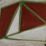 Amilcar de Castro, Sem título, dec 70, acrílica sobre Eucatex, 40x50cm