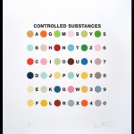 Damien Hirst - Controlled Substance Key Spot Print_Silkscreen print with glaze and debossed edge_Foto Joaquim Nabuco_Mais Um Galeria de Arte