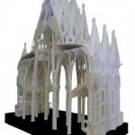 Maquete das naves da Basílica da Sagrada Família_Escala 1_25_Gesso_220 x 110 x 305 cm_UPC_Junta Constructora del Temple de la Sagrada Família
