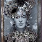 HERTON ROITMAN - Frida Barroca, Assemblage, 58 x 31,5 cm, 2017