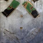 Matheus Rocha Pitta_ Estela # 07 (Amarildo), 2013_Recorte de jornal, concreto e embalagem de cimento_180 x 100 x 5 cm_crédito Matheus Rocha Pitta