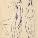 Victor Brecheret_Três nus de índios, década de 1940  1940s_nanquim sobre papel  in k on paper, 31,5 x 21,5 cm_ Crédito da foto Sérgio Guerini_BRECHERET_04_tratada