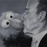 Claudio Tobinaga_Beijo - 30x40cm - óleo sobre tela - 2014