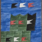 Alfredo Volpi - Bandeirinhas - T+¬mpera sobre tela - 33,3 x 24,2 cm - D+®c. 60 - Proj. n-¦ 1287
