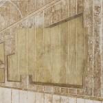 Daniel Senise -Biografo LIII  - 125x200cm - Monotipia de piso de cimento em tecido e medium acrilico sobre aluminio