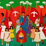 Festa do Divino em Parati - estudo para painel do Palácio dos Bandeirantes, 1962