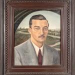 Anita Malfatti  Retrato José de Almeida Camargo 1936 óleo stela 55 x 46 cm