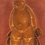 Vicente do Rego Monteiro  O menino e a tartaruga Paris 1924 oleo s seda 45 x 38 cm